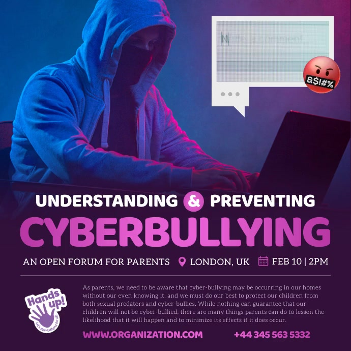 Understanding Cyberbullying Square image template