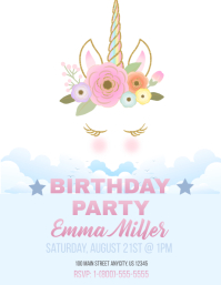 Unicorn Bday Invite