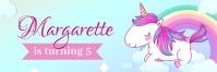 Unicorn Birthday Banner template