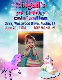 Unicorn Birthday Template