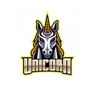 unicorn logo Logotipo template