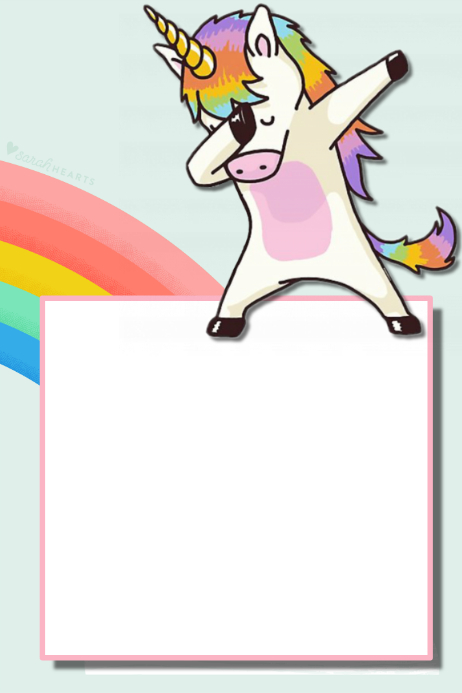 Unicorn Party Prop Frame