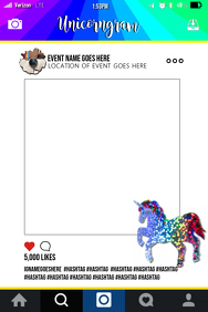 Unicorn Party Prop Frame