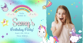 Unicorn Rainbow Facebook Shared Image template