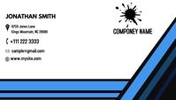 unique business card address componey card Visitkort template