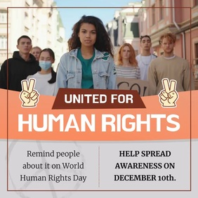 United for Human Rights Square Video template