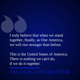 United Message to Black Lives Template Vierkant (1:1)
