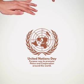United Nations Day Video Template สี่เหลี่ยมจัตุรัส (1:1)