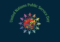 United nations public service day Ikhadi leposi template