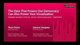 United States Census Template Video Sampul Facebook (16:9)