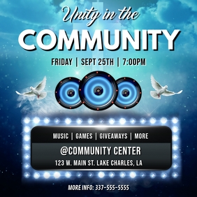 UNITY IN THE COMMUNITY FLYER TEMPLATE