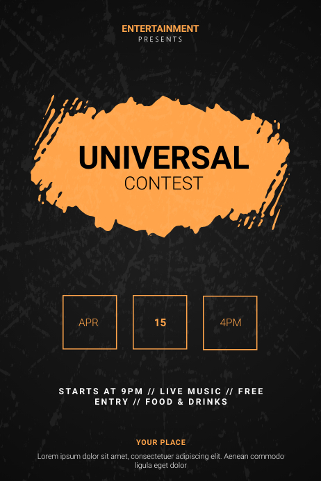 Universal Contest Flyer Template