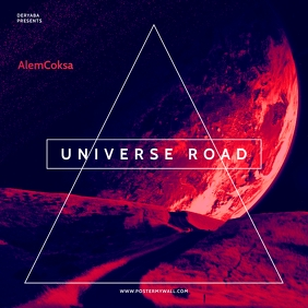 Universe Galaxy Road The Mixtape CD Cover template