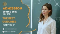 University Admission Facebook Cover Video template