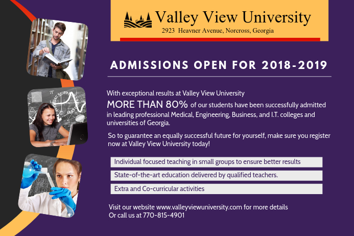 University Admissions Open Ad Poster Template Postermywall