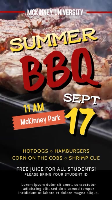 University Barbecue Event Party Invitation Video