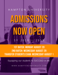 University Open Admissions Poster with Quote