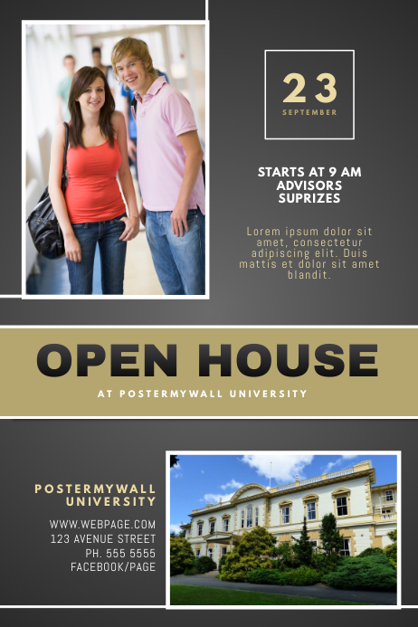 University Open House Flyer Template | PosterMyWall