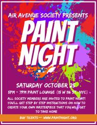University Paint Night Event Flyer Design