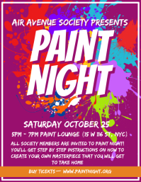 University Paint Night Event Flyer Design template