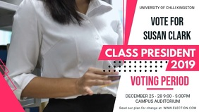 University Student Council Election Facebook Header template