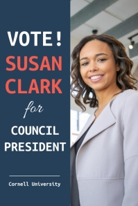 University Student Council Election Poster Template