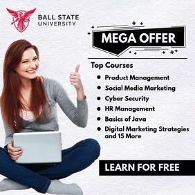 University Top Courses Promo Template Pos Instagram