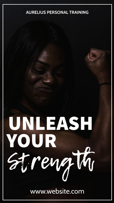 Unleash your strength fitness generic adverti Instagram Story template