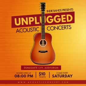Unplugged Chill Acoustic Concert Ad