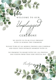 Unplugged Wedding Sign A2 template