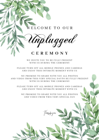 Unplugged Wedding Sign A1 template