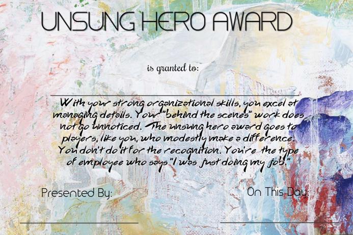 make a award certificate