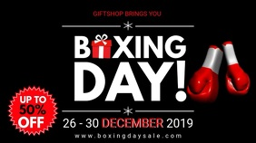 Up to 50% OFF Boxing Day Sale Display template