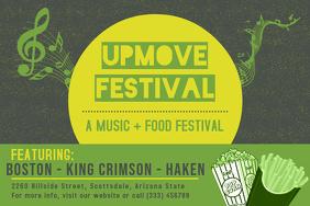Upbeat Rock Festival Concert Poster Design template