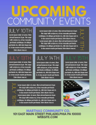 Upcomging event Flyer (US Letter) template