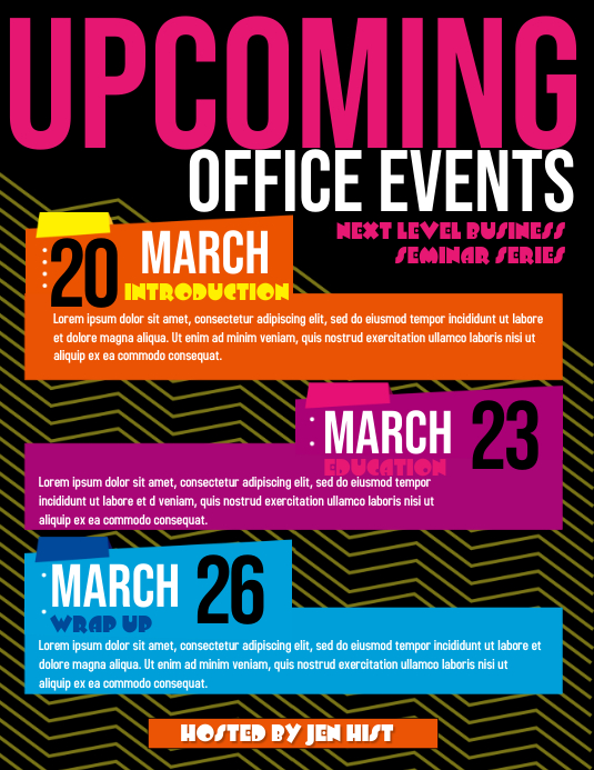 upcomign event