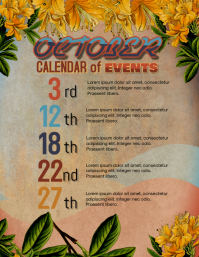 upcoming calendar of events flyer template