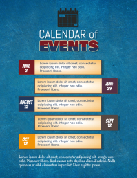upcoming calendar of events flyer template Pamflet (Letter AS)