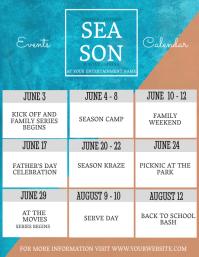 Upcoming Event Calendar Flyer Template