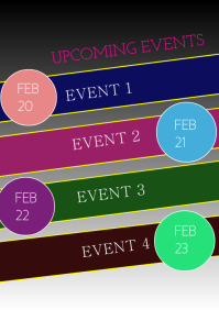UPCOMING EVENT A4 template