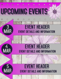 upcoming event flyer