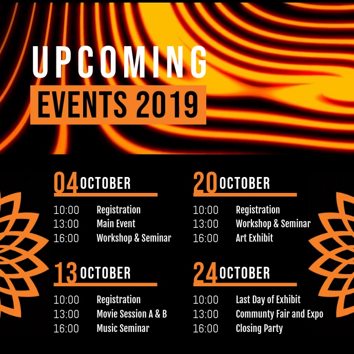 Upcoming Event Schedule