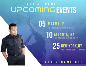 Upcoming Events (Artist)