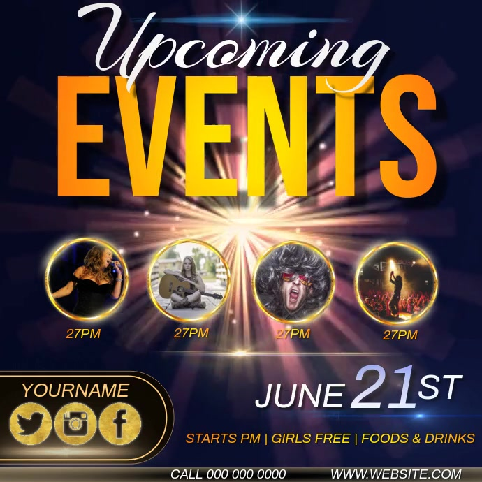 UPCOMING EVENTS AD INSTAGRAM TEMPLATE