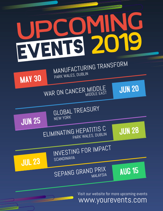 Upcoming Events Calendar
