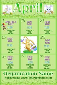 Upcoming Events Calendar April