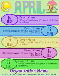 Upcoming Events Calendar Newletter April