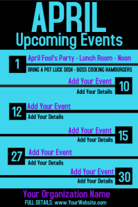 Upcoming Events Calendar Newsletter