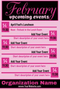 February Upcoming Events Calendar