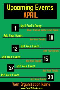 Upcoming Events Calendar Newsletter